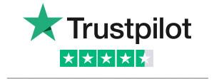 Trustpilot star rating with logo